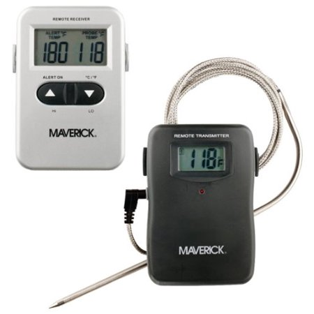 Maverick Remote Wireless Cooking Thermometer   Fahrenheit Reading   Heat Resistant  Programmable  Timer  Beeper  Built In Stand   For Meat  Oven  Grill  Et710s