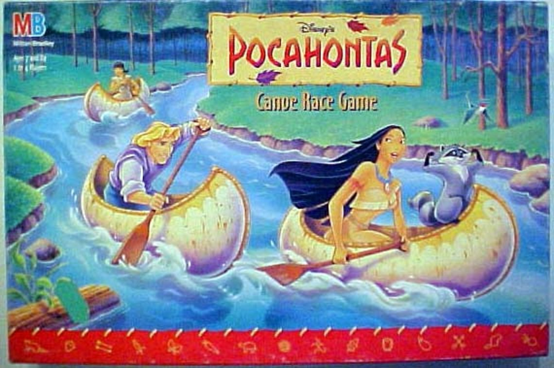 Pocahontas Canoe Race Game, Ages 7 and Up By Milton Bradley by