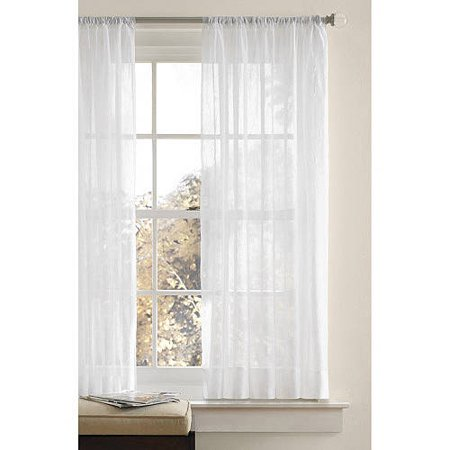 Better homes and gardens canopy crushed voile drapery Better homes and gardens valances for small windows