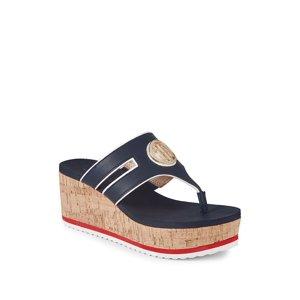 Galley Cork Platform Wedge Sandals