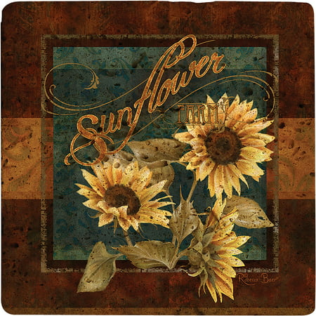 Acrylic Trivet (Thirstystone Ambiance Trivet, Sunflower Farm, Travertine)
