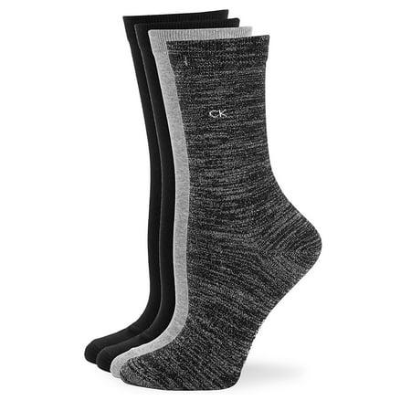4-Pack Heathered Crew Socks