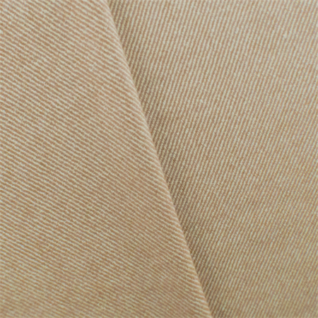 Peanut Brown/Ivory Wool Twill Suiting, Fabric By the Yard - Peanuts Fabric