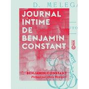 Journal intime de Benjamin Constant - eBook