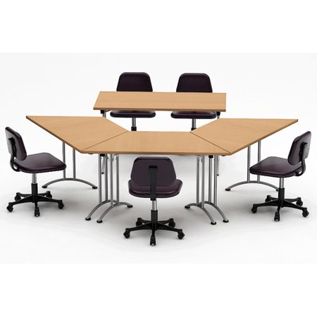 Team Tables Meeting Seminar 4 Piece Conference Table Set
