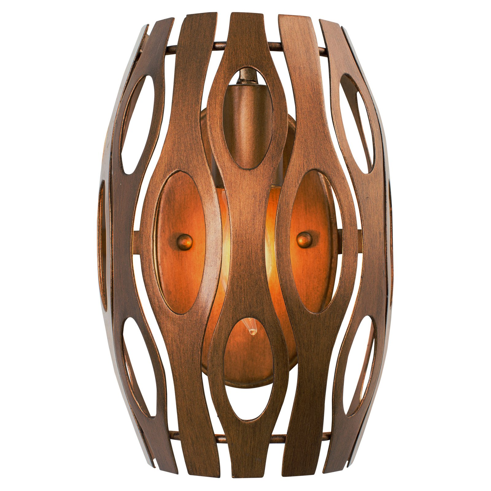 Varaluz - Masquerade - 1 Light Wall Sconce - Pearl Finish with Recycled Steel