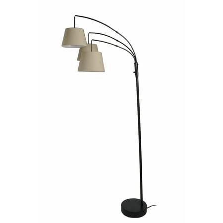 Better Homes & Gardens 3 Head Arc Floor Lamp with LED Bulbs