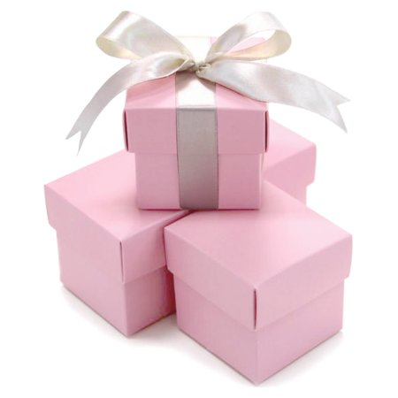 Koyal Wholesale Blushpink Two Piece Favor Boxes, 10-Pack Wedding Favors, Jordan Almonds Favor Box, Hersheys Kisses Box - Wholesale Boxes