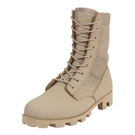 """Rothco 5909 8"""" Classic Military G.I. Style Jungle, Combat Boots, Desert Tan"""