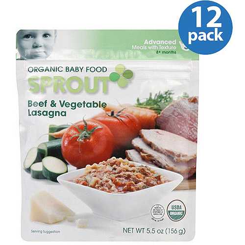 Sprout Advanced Organic Beef & Vegetable Lasagna Baby Food, 5.5 oz, (Pack of 12)