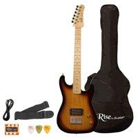 Rise by Sawtooth 3/4 Size Student Electric Guitar Bundle, Sunburst (NO AMP)