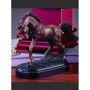 Marian Imports F13004 7 x 6 in.Treasure of Nature Howling Bronze Horse Statue