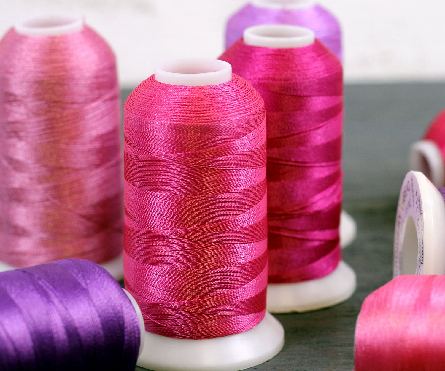 Threadart Polyester Machine Embroidery Thread By the Spool 265 No Royal Purple 220 Colors Available 1000M