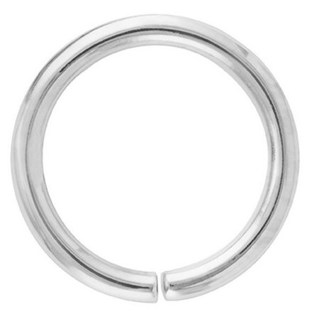 14k White Gold Seamless Hoop Nose Ring Cartilage Earring Walmartcom