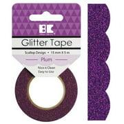 Best Creation Designer Glitter Tape 15mmX5m-Plum Scallop