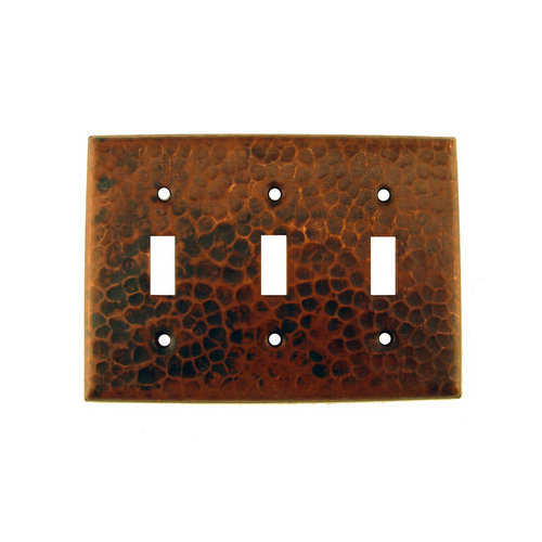Bundle-24 Premier Copper Products Copper Switchplate Triple Toggle Switch Cover (Set of 2)