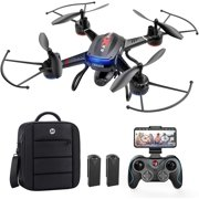 Holy Stone 1080P FPV Drone with HD Camera for Adult Kid Beginner, RC Quadcopter F181W with Carrying Case, Voice Control, Gesture Control, Wide-Angle Live Video, Altitude Hold, 2 Batteries, Easy to Fly