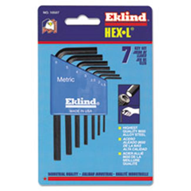 Ekl 10609 Metric L-Wrench Hex Key Set, Long-Arm - 9 Piece