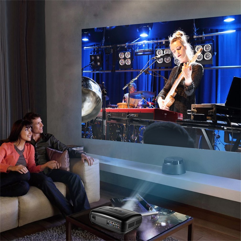 LESHP Multimedia 720P LCD Projector High Resolution Home ...