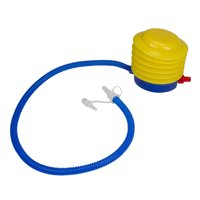 """Pool Central Bright Portable Foot Pump for Pool and Spa 8"""" - Yellow/Blue"""