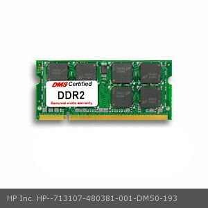 DMS Compatible/Replacement for HP Inc. 480381-001 Pavilion dv7-1045eg 1GB DMS Certified Memory 200 Pin  DDR2-800 PC2-6400 128x64 CL6 1.8V SODIMM - DMS ()
