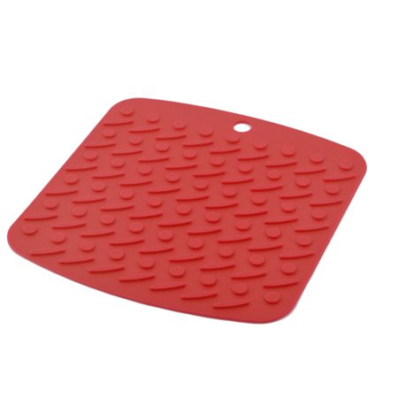 Silicone nonslip table heat resistant mat bowl cup cushion placemat pad orange - Heat resistant table cloth ...