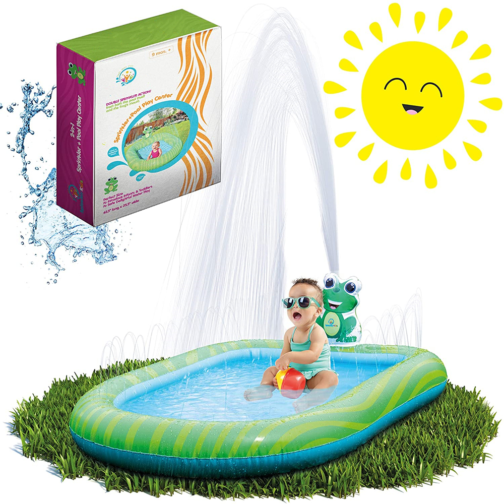 3 In 1 Inflatable Sprinkler Pool For Kids Baby Pool Kiddie Pool Toddlers Wading Swimming Water Outdoor Toys Babies 1 2 3 4 5 6 Year Old Boys Girls Small Small And Large Size Walmart Canada