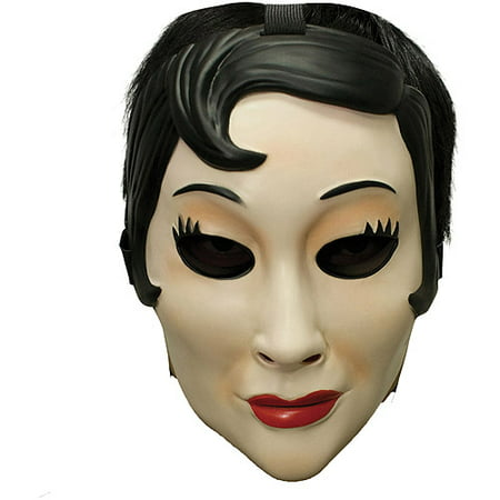 Emo Girl Plastic Mask Adult Halloween Accessory