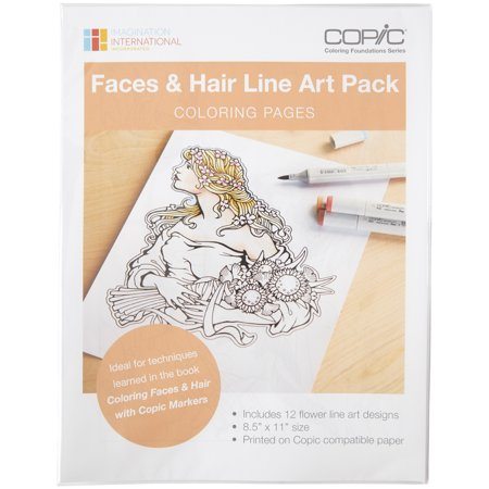 Copic Faces & Hair Art Coloring Pages- | Walmart Canada