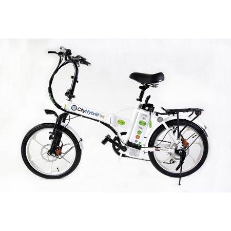 - GreenBike Electric Motion 2018 City Hybrid 350W 48V Folding Electric Bike