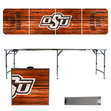 Oklahoma State Cowboys Weathered Design 8' Portable Folding Tailgate Table Dallas Cowboys Tailgate Table