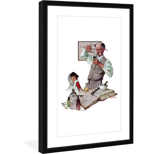 "Marmont Hill ""Pharmacist"" by Norman Rockwell Framed Art Print"