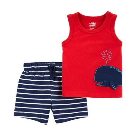 Tank top and shorts outfit, 2 pc set (baby boys)](Cool Kid Outfits)