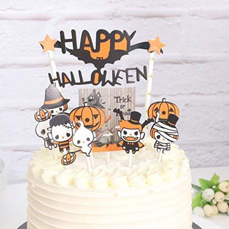 Sakolla 10pcs Halloween Cake New Toppers Set Halloween Cake