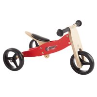 2-in-1 Wooden Balance Bike & Push Tricycle- Ride-On Toy for Ages 1-3 by Lil? Rider