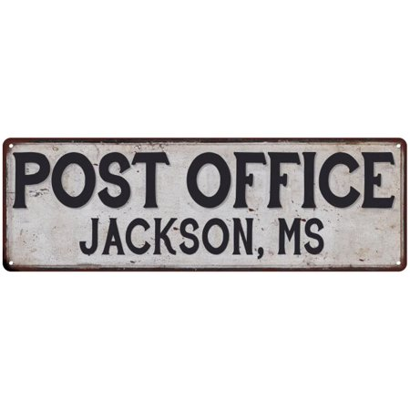 Jackson, Ms Post Office Personalized Metal Sign Vintage 6x18 106180011138 - Party Store Jackson Ms