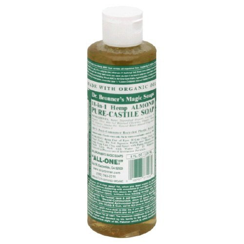 Magic Pure Castile Liquid Soap Organic By Dr.Bronners, Almond - 8 Oz
