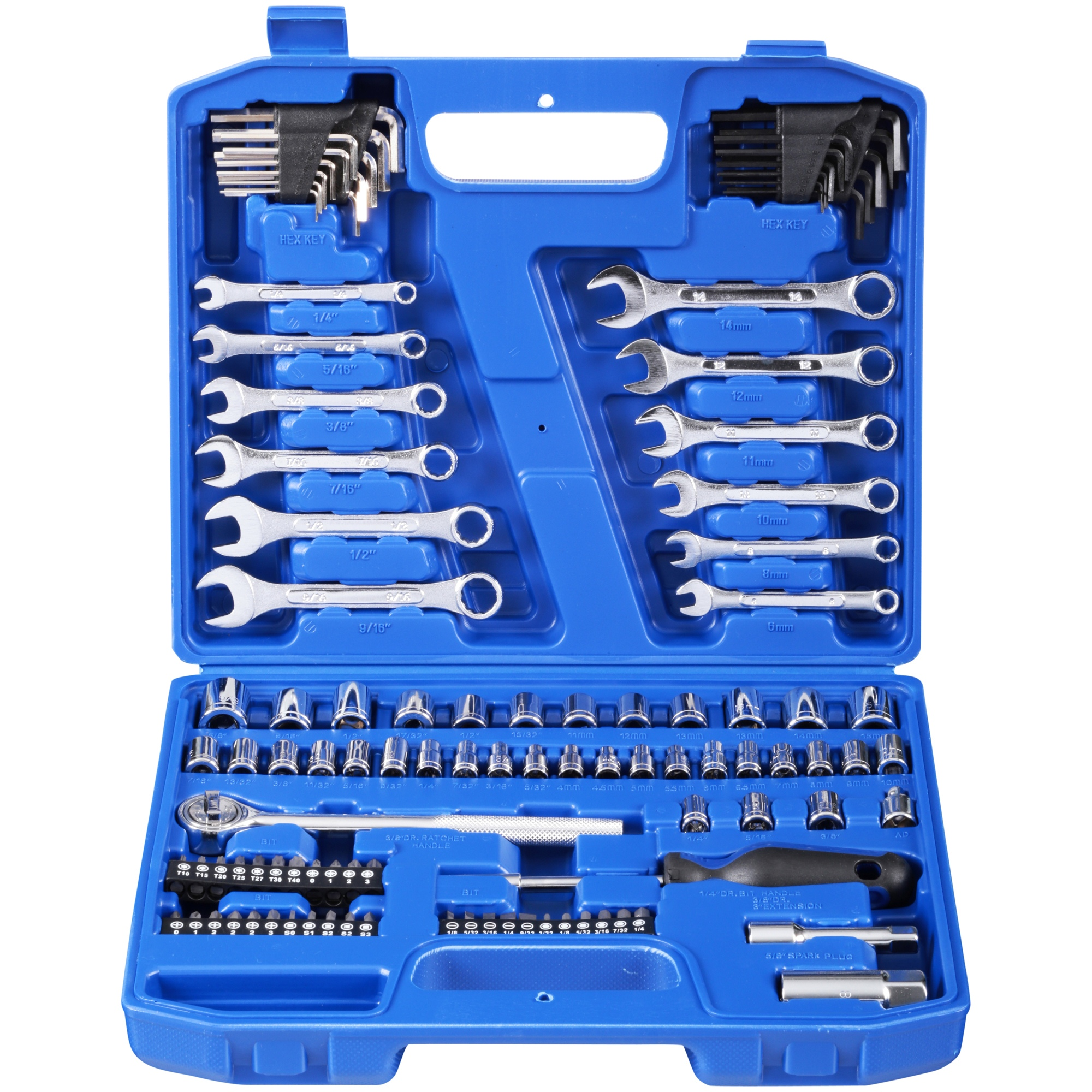 Hyper Tough 113 Piece 1/4-Inch and 3/8-Inch Mechanics Tool Set