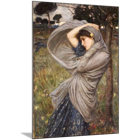 Boreas, 1903 Wood Mounted Print Wall Art By John William Waterhouse