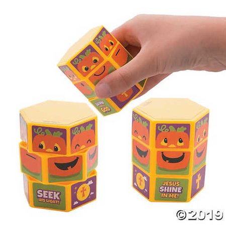 Religious Halloween Party Games (Christian Pumpkin Twisty Puzzles Games Halloween Alternatives Religious Party Favors 12)