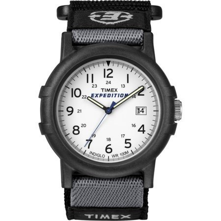 Men's Expedition Camper Watch, Black Fast Wrap (White Expedition Watch)