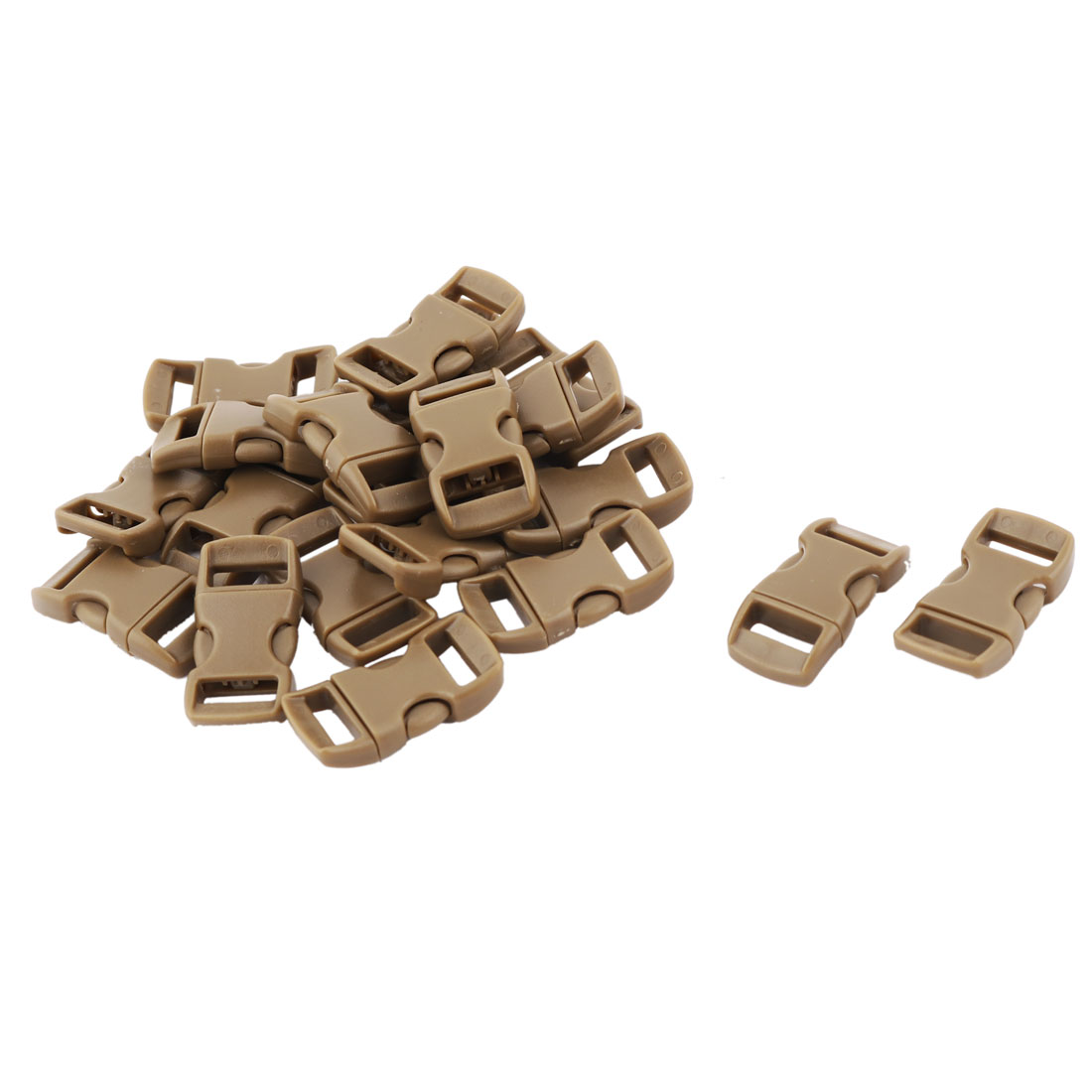Backpack Bag Plastic Strap Connecting Quick Release Buckle Coffee Color 20 Pcs