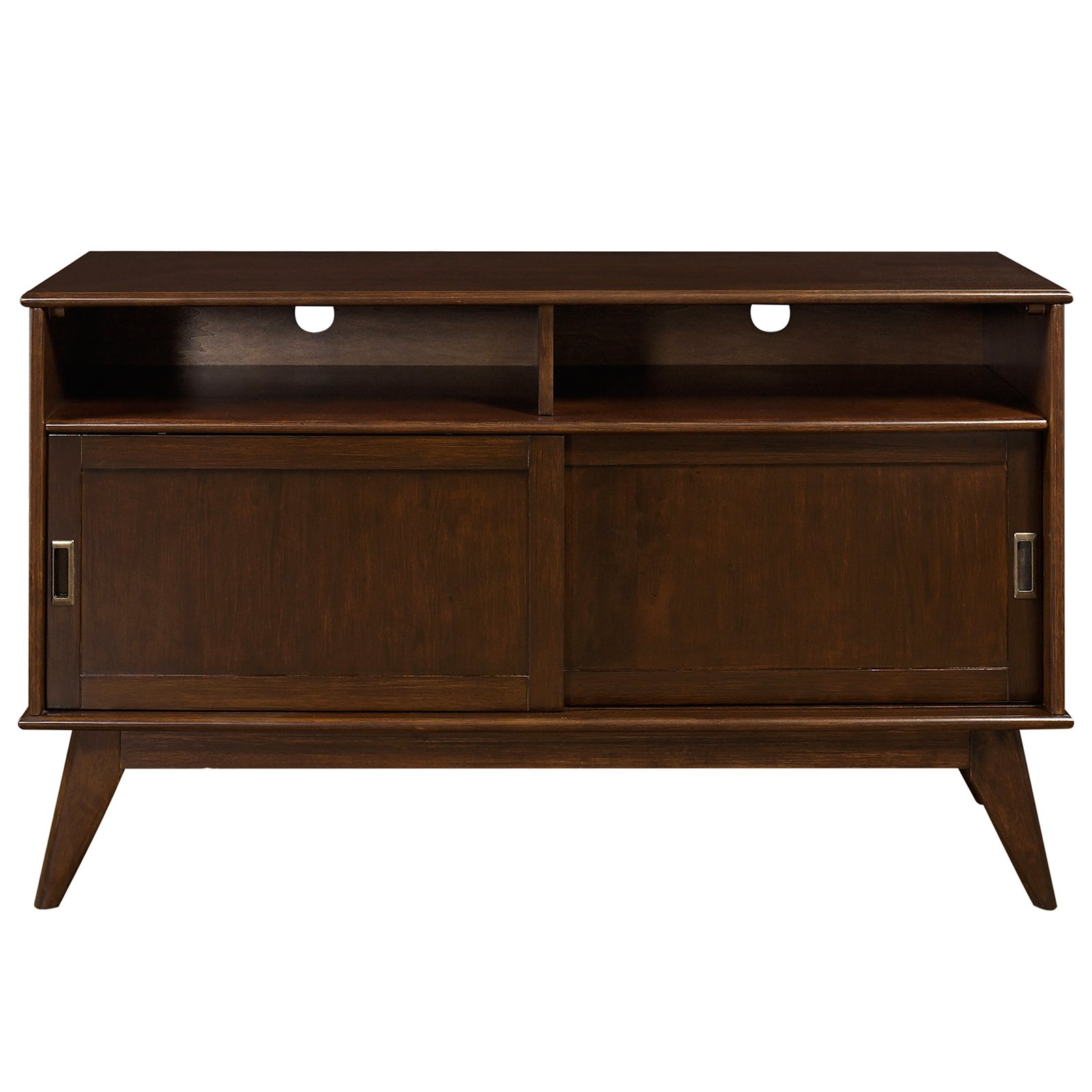 Simpli Home Draper Mid Century Tall TV Media Stand