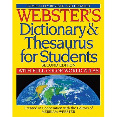 Webster's Dictionary & Thesaurus for Students: With Full Color World Atlas (Revised, Updated) (Paperback) - Halloween For Esl Students