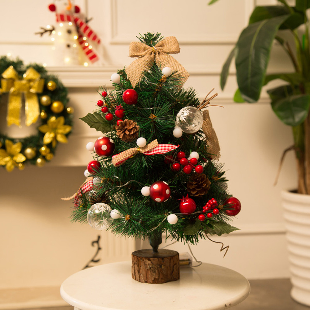 Artificial Flocking Christmas Tree LED Multicolor Lights