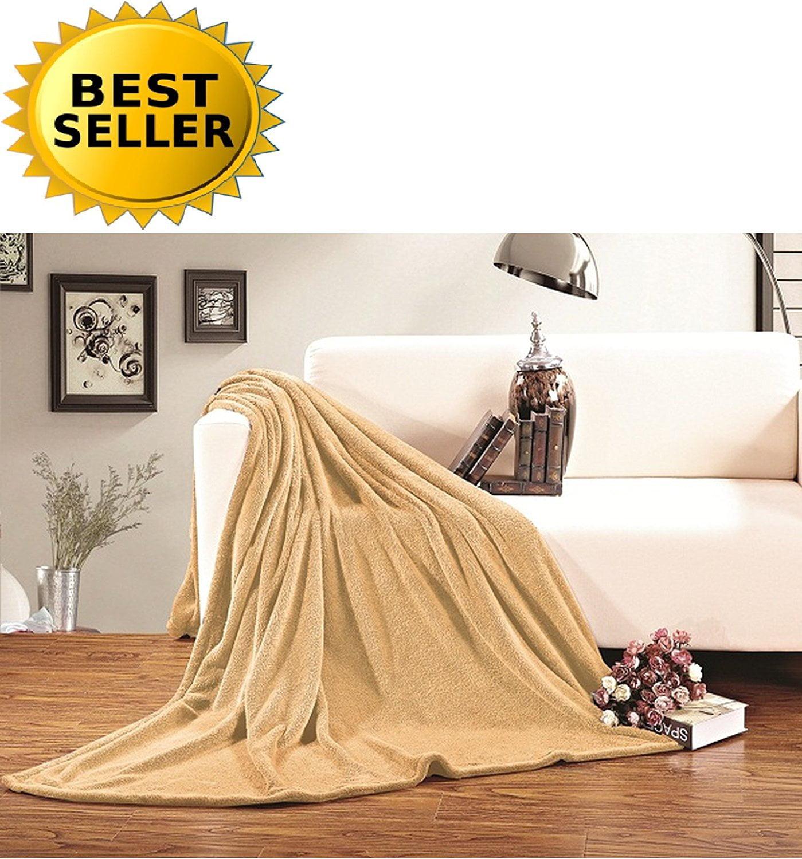 #1 Fleece Blanket on Walmart - Super Soft - SALE - All Season Super Plush Luxury FLEECE BLANKET, KING/CAL KING Gold, #1 LUXURY FLEECE BLANKET ON Walmart - Super.., By Celine Linen