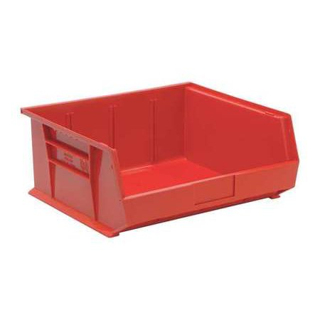Quantum Storage Systems 75 lb Capacity, Hang and Stack Bin, Red QUS250RD ()