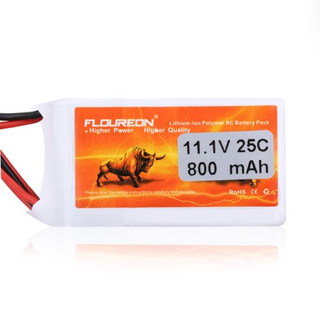 FLOUREON 3S 11.1V 800mAh 25C Li-Polymer Battery Pack