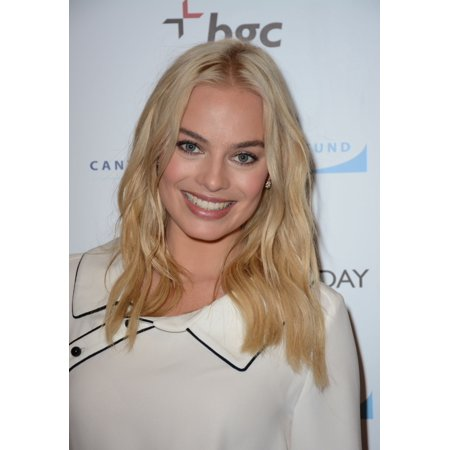 Margot Robbie In Attendance For Bgc Partners Annual Charity Day Rolled Canvas Art     8 X 10