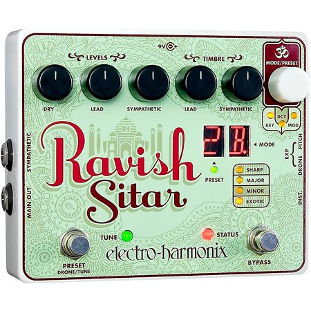 Electro-Harmonix The Ravish Sitar Synthesizer Guitar Effects (Best Guitar Synthesizer Pedal)